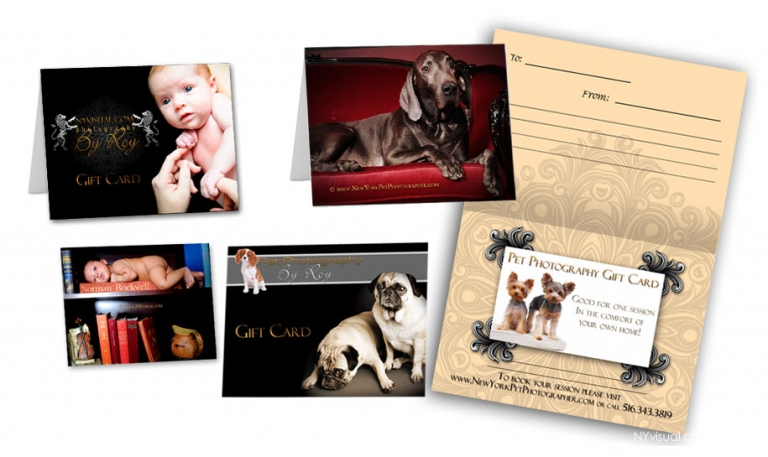 In-home or on location photography gift cards in NY, NJ,CT